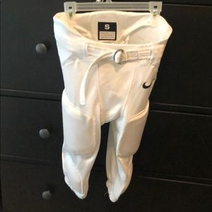 White nike football pants
